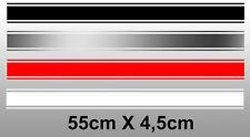 BANDE STRIPE TRIPLE FILET AUTO MOTO 55cmX4,5cm RACING AUTOCOLLANT STICKER BA240