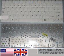 Clavier Qwerty US Int MSI Wind U100 U110 V022322AS1 S1N-1UUS381-SA0 Blanc/White