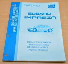 Subaru Forester 1998 Werkstatthandbuch Reparaturanleitung in 5 Bänden