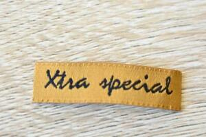 Xtra Special Words Letter 10pcs 10x40mm Woven Clothing Label Tags Sew On