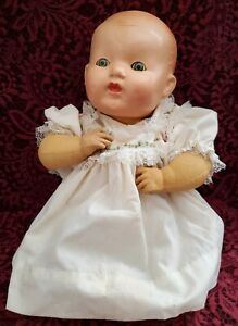 """Vintage/Antique """"Kiddy Kelly?"""" Mystery Composition/Rubber Baby Doll 15"""""""