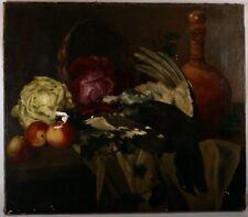 Antikes Gemälde jagdliches Stilleben Birkhuhn signiert J. Castro 1889 Öl/Lw