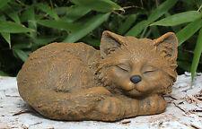 sculpture en pierre chats d'animal figurine de Jardin Décoration funéraire