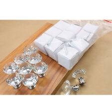 Diameter 40mm Diamond Crystal Furniture Drawer Handles Door Dresser Knobs  NEW