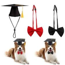 2 Pcs Set Pet Graduation Cap with Tessel and Bow Tie Dog Decoration Photography