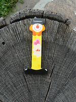 NUOVO Sevi 81745 Letterina I Clown in legno colore giallo