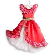 Girls ELENA OF AVALOR Costume Red Flamenco Dress Child Medium 7 8 DISNEY STORE