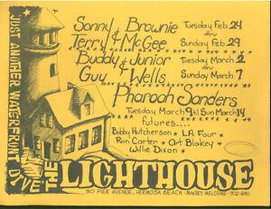 PHAROAH SANDERS BUDDY GUY JUNIOR WELLS Lighthouse 1975 Concert Handbill Flyer