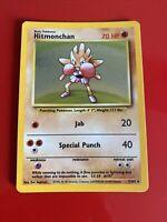 Pokemon 💎Hitmonchan Holo💎 1999 Unlimited Base Set 7/102 🌟WOTC🌟 Rare Card