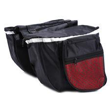 Rojo/Negro Alforjas Dobles Laterales de Bolsa Almacenamiento 25L Para Bicicleta
