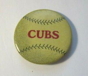 Original 1907 Baseball CUBS Pin Copyright 1907 By Cruver MFG Co. Chicago