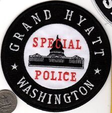 Grand Hyatt Special POLICE PATCH Washington Capital DC Cloth Shield Badge