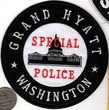Grand Hyatt Special POLICE PATCH Washington Capital DC Cloth Shield Badge