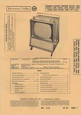 Sams PhotoFact TV General Electric 21C133, 21C133-UHF, 21C134, 21C134-UHF ...