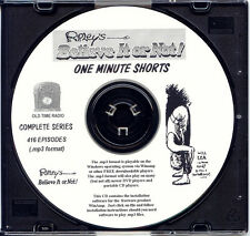 RIPLEY'S BELIEVE IT OR NOT SHORTS  416 Eps Old Time Radio In MP3 Format OTR 1 CD