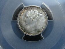 More details for superb pcgs certified g.b queen victoria 1884 threepence - ms64.