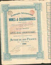 Compagnie Internationale MINES & CHARBONNAGES (BELGIQUE) (V)