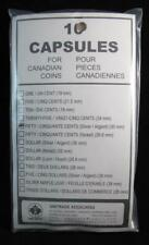 UNI-SAFE COIN CAPSULES - 50 CENTS - SET OF 10