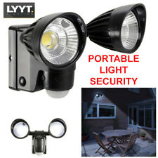 Outdoor Dual 3W LED Bright PIR Security Flood Light Wall Mount - Battery Powered