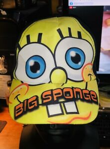 "Nickelodeon Sponge Bob Kids ""Big Sponge"" Adjustable Baseball Hat Cap #B"