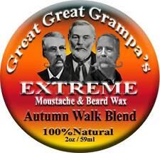 """""""Autumn Walk"""" Blend - Mustache & Beard Wax 2oz- Stiff / Extreme - Outdoor scent"""