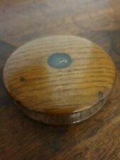 antique oak round PATCH BOX