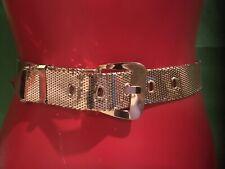 "Vintage Estate Whiting & Davis Gold Mesh Belt Fits S-M 27� to 31"" Runway Mcm"