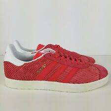 Adidas Gazelle Womens Size 8 Core Pink/White Reptile Suede Athletic BB5174 NEW!