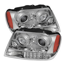Jeep 99-04 Grand Cherokee Dual Halo LED Projector Headlights Laredo Limited