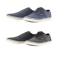 Jack & Jones Mens Canvas Trainers Plimsolls Designer Sneakers Lace Up Shoes