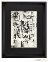 P. PICASSO Lithograph Limited EDITION - Man with Pipe (1911) + Custom FRAME