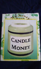 """""""NEW IN BOX"""" Candle Money Ceramic Bank"""