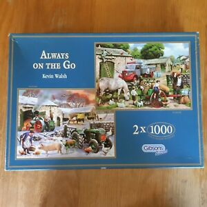 KEVIN WALSH: ALWAYS ON THE GO: 2 X 1000 PIECE JIGSAWS GUARANTEED COMPLETE