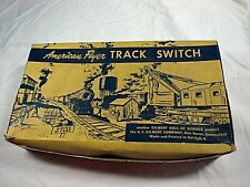 American Flyer No. 679 Right Hand Switch Original Box and Both Inserts Only Rare