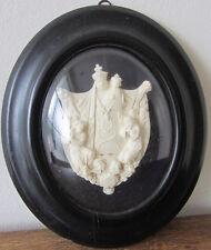 Cornice ovale Napoleone III - scultura in caolino - arte sacra - Miniatura