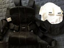 Baby Bjorn Baby Carrier One Air Black Mesh With Strap & Bib Protectors