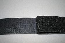 Hook and Loop Sew On Tape 50mm Black  1 metre