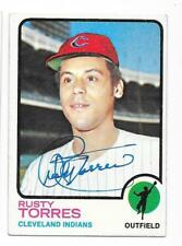 RUSTY TORRES 1973 TOPPS AUTOGRAPHED SIGNED # 571 INDIANS