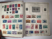 Vintage The New World Wide Postage Stamp Album With 1,962 Total Stamps