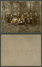 Großfoto Eduard Naumann Männerverein Fahrrad Bier Maßkrüge Bierfass Meerane 1895
