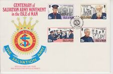Unaddressed Isle of Man FDC First Day Cover 1983 Salvation Army 10% off 5