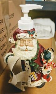Soap Dispenser Santa Christmas Holiday Resin Pre-owned EUC