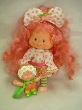 Vtg Kenner 80s Strawberry Shortcake DOLL Lot PEACH BLUSH w/ BERRYKINS HTF