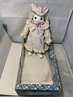Country-Kins Belinda Bunny Porcelain Doll with Box