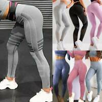 Womens High Waist Push Up Yoga Pants Gym Workout Seamless Leggings Fitness Sport