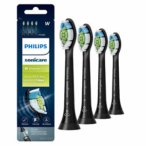 Philips Sonicare W Diamond Clean Replacement Toothbrush Head, HX6064/95, 4 Pack