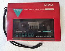 Walkman AIWA HS-P05 Red Stereo Cassette Player Vintage Japan