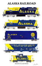 "Alaska Railroad 11""x17"" Poster by Andy Fletcher signed"