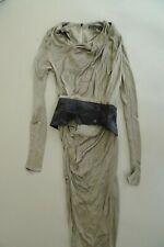 Alexander Wang Dress Khaki Grey Black Satin Belt UK 6