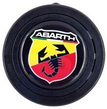 Abarth logo steering wheel horn push button. Fits Momo Sparco OMP Nardi Raid etc
